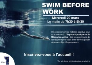 SWIM BEFORE WORK @ Espace Aquatique